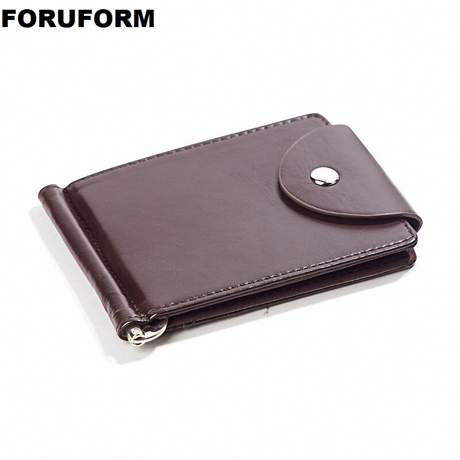 PU Leather Money Clip Metal Men Card Pack Slim Bills Cash Clips Clamp For Money Thin Billfold Holder Cheap NEW ZH-114