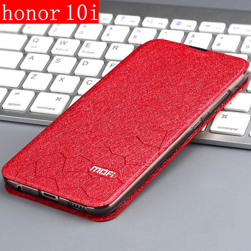 <font><b>Case</b></font> For Huawei <font><b>Honor</b></font> <font><b>10i</b></font> Cover Flip Leather Book PU MOFi Luxury Soft Silicon Capa Glitter Thin Huawei HRY-LX1T <font><b>HONOR</b></font> <font><b>10I</b></font> <font><b>Case</b></font> image