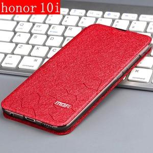 Image 2 - flip case for huawei honor 10i case flip leather book PU MOFi luxury soft silicon capa glitter Huawei HRY LX1T HONOR 10I Case