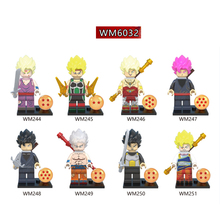 WM6032 Single Sale Building Blocks Super Heroes Black Goku Vegeta Vermouth Freiza Dragon Ball Z Figures Children Gifts Toys super heroes single sale dragon ball z figures general blue vermouth goku future trunks golden freiza bricks children gift toys