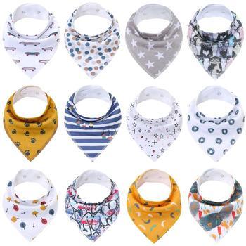 2Pcs Baby Bibs Boys Accessories Newborn Girls Burp Bandana Cotton Soft Toddler Triangle Scarf Infant Saliva Towel Newborn Bibs