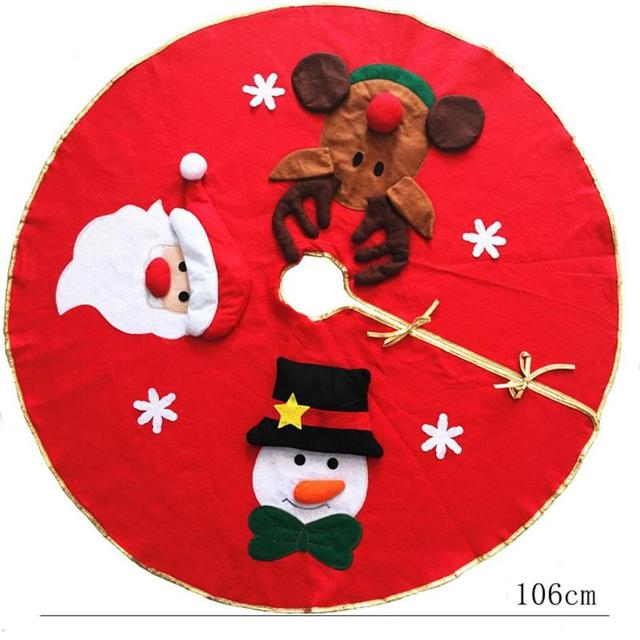 45-100cm Red Christmas Tree decoration Carpet Party Ornaments Christmas Decoration for Home Non-woven Xmas Decorations 4