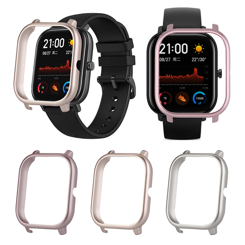 For Huami AMAZFIT GTS PC Ultra Replacement Wrist Strap Light Protective Case Watch Light Metal Protective Case Cover