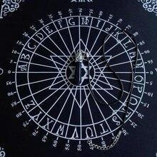 30x30cm Tablecloth Pendulum Magic Pentacle Runes Altar Table Cloth Divination T8NC