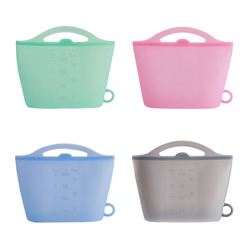 1 Pc Simple Design Silicone Reusable Food Storage Bags with Zip Organiser Faucet Caddy Holder Multipurpose for Kitchen Bathroom