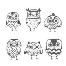 AZSG Owl partner Clear Stamps For DIY Scrapbooking/Card Making/Album Decorative Silicon Stamp Crafts