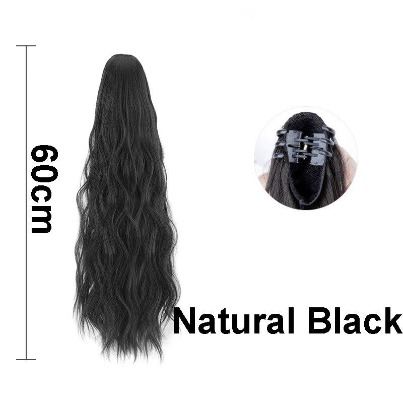 cauda extensões de cabelo falso natural peças de cabelo feminino diário