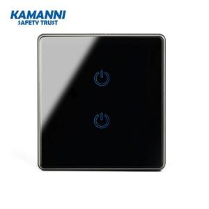Image 4 - Kamanni interrupteur mural tactile/Off, 2 boutons, 3/4 voies, Standard américain, 1/2/1/2 boutons, noir/or/gris/vert