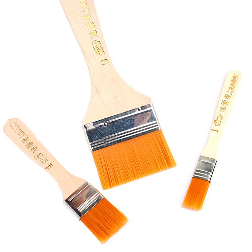 Pinceles de pintura de nailon suave arte estudiantes papelería aceite acuarela agua en polvo pincel suministros escolares para niños DIY dibujo