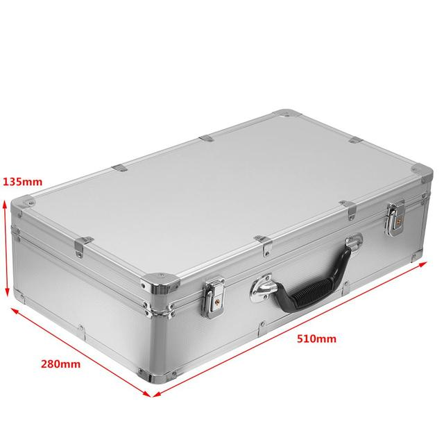 51x28x13.5cm Aluminum Tool Case Outdoor Box Portable Safety Equipment instrument Case Suitcase Outdoor Safety Equipment