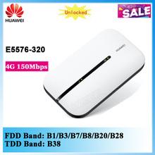 Zupełnie nowy oryginalny HUAWEI E5576 E5576s-320 4G 150Mbps mobilny hotspot 4g wifi router modem mifi pk e5577 e5573 tanie tanio IEEE 802 11b g n a E5576-320 2 4g 150mbs 4G 3G 3dBi 802 11a 802 11g 802 11n WPA-PSK WPA2-PSK
