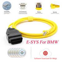 ESYS ENET Cable For BMW F-serie Refresh Hidden Data E-SYS ICOM Coding ECU Programmer OBD OBD2 Scanner Car Diagnostic Auto Tool