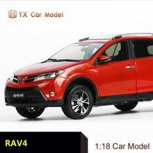 Diecast carro 1: 18 modelo 2013 toyota rav4 simulação liga modelo de carro (pequeno presente)