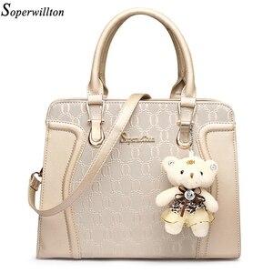 Image 2 - Soperwillton Fashion Luxury Handbags Women Bag Set Designer Purses Handbags Set 4 Pieces Bags Female Bolsa Feminina Hard #1122