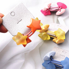 2pcs/lot Star Elastic Hair Bands Hair Ties For Wome