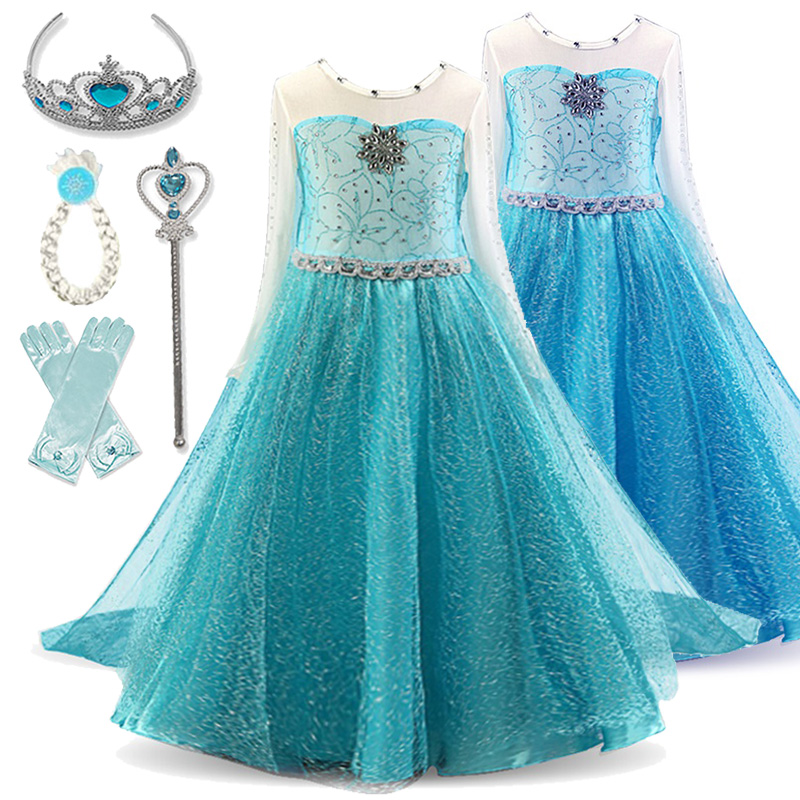 Kids Dresses For Girls Dress Cosplay Princess Costumes Kids Party Christmas Gift Fantasia Vestidos Girls Clothing