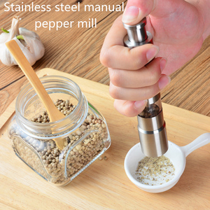 Novelty Home Kitchen Tool Manual Stainless Steel Salt Pepper Mill Spice Sauce Grinder manual pepper mill Multi-purpose