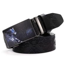 Leather Belts for Mens with Removable Buckles Hot Belt NEW Ratchet Dress Automatic Buckle