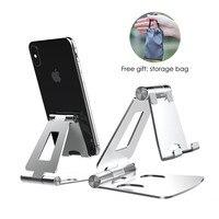 LICHEERS-soporte plegable de Metal para teléfono móvil, base de escritorio para iPhone 12, Samsung, Xiaomi mi 9, 7, 8, X, XS