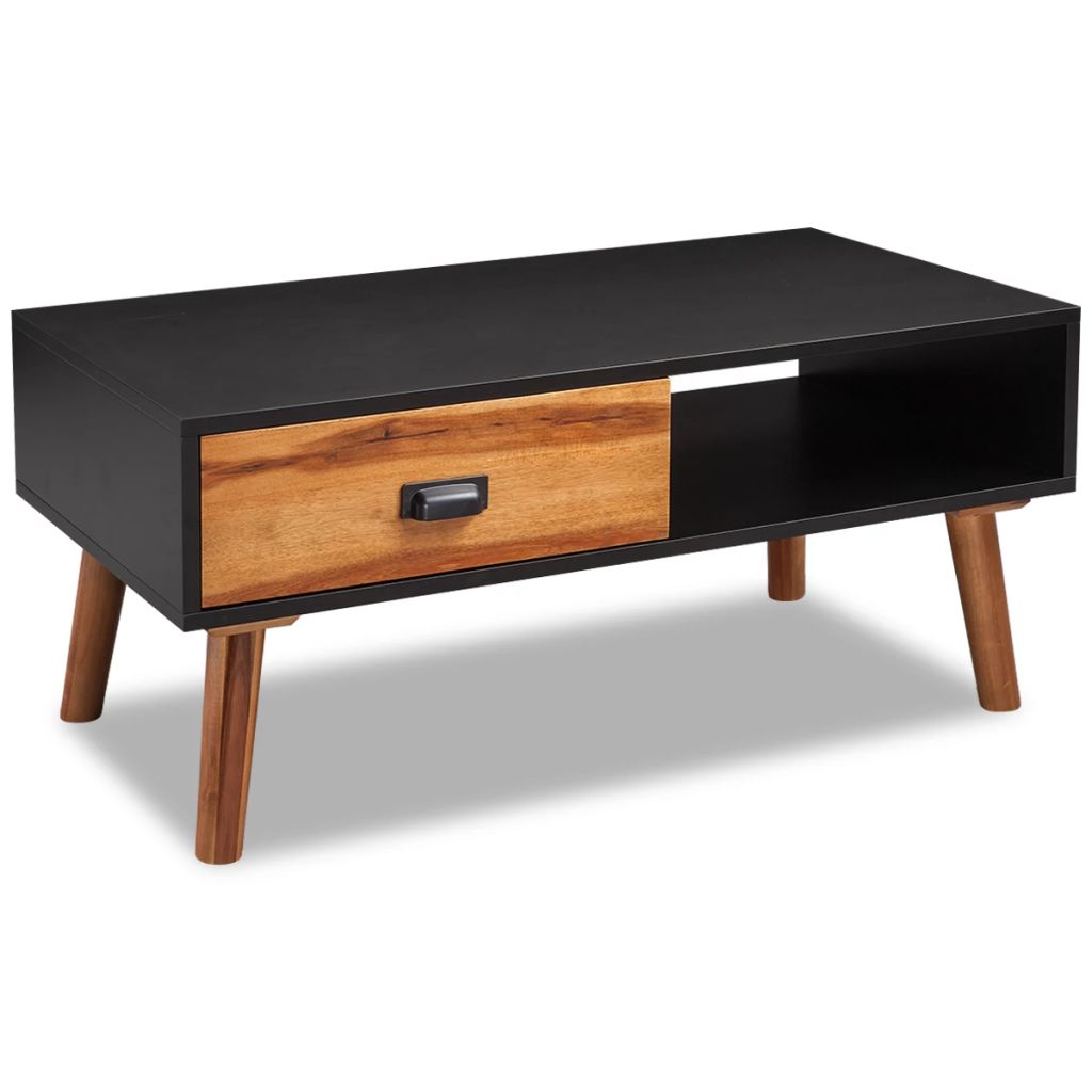 VidaXL Solid Acacia Wood Coffee Table 90x50x40 Cm