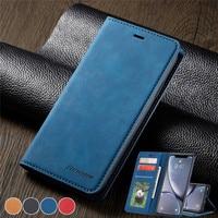 Custodia in pelle per iPhone 12 11 Pro XS Max XR X 8 7 6 6S Plus custodia magnetica per portafoglio per Samsung S21 Ultra S20 FE S10 S9 Coque