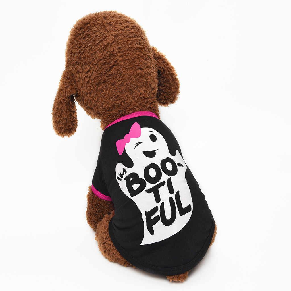 هالوين جديد كلب قميص شبح اللوحة القطبية جرو معطف الحيوانات الأليفة الملابس احتفالي جو حفلة لوازم الديكور #8