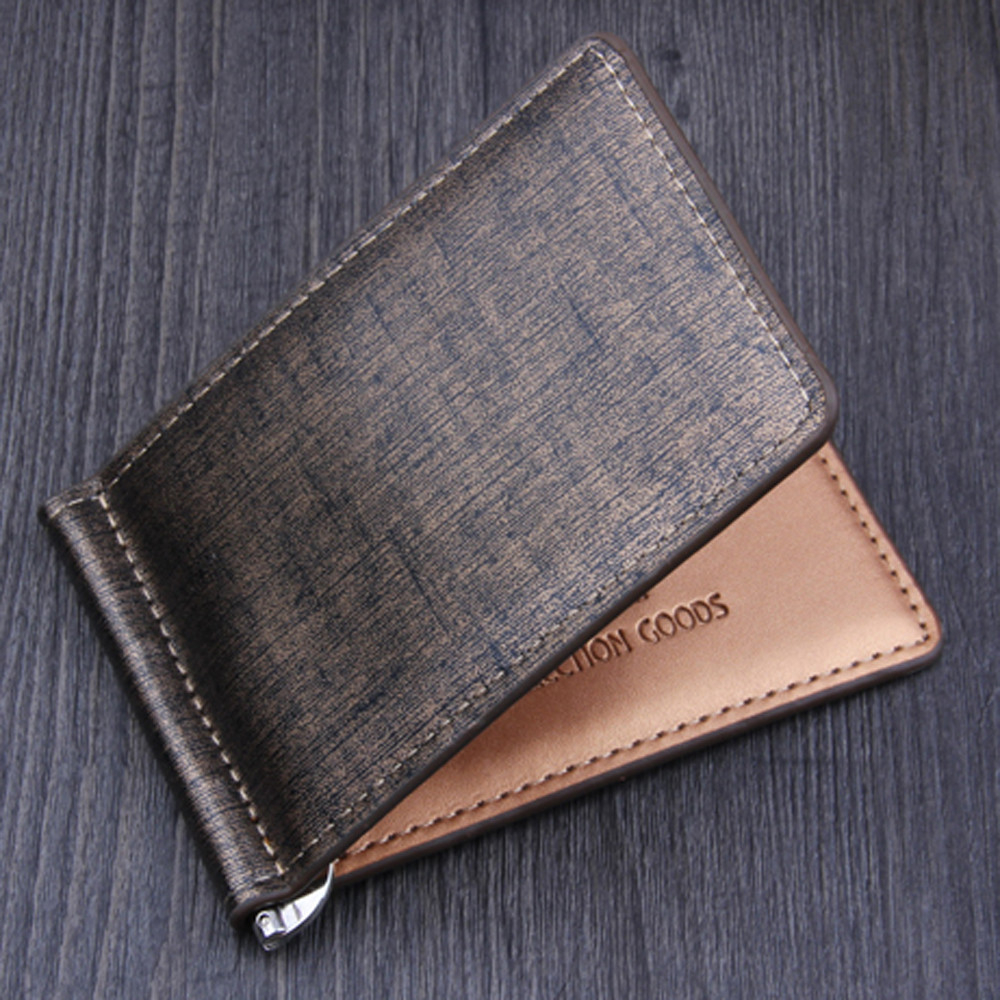 Top 2019 Vintage Men Leather Brand Luxury Wallet Short Slim Male  Bifold Short Credit Card Holders Coin Purses Portomonee 815