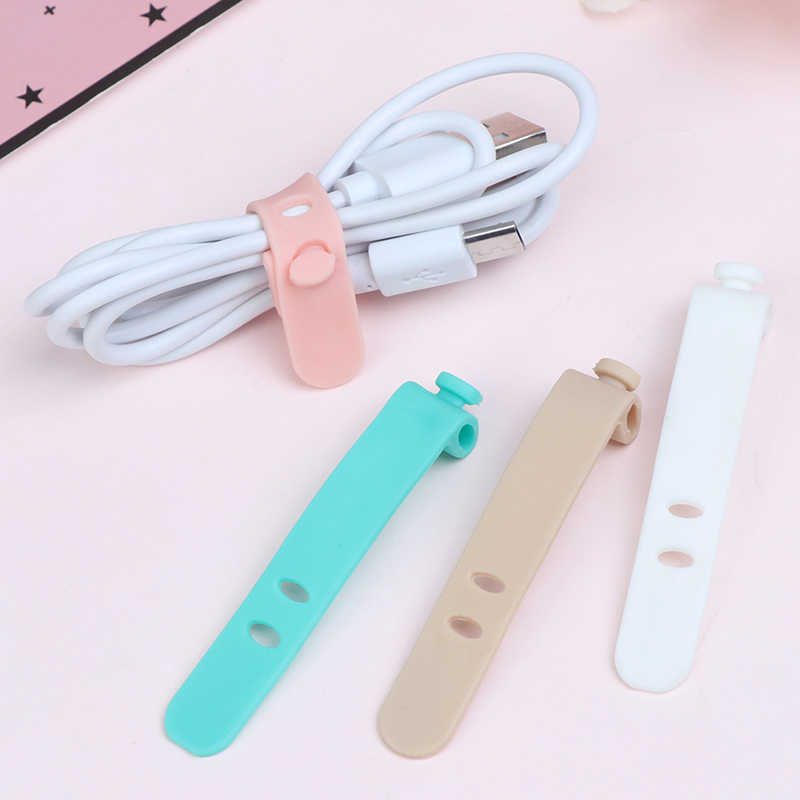 4PCS/SET Creative Travel Accessories Silica Gel Cable Winder Earphone Protector USB Phone Holder Accessory Packe Organizers