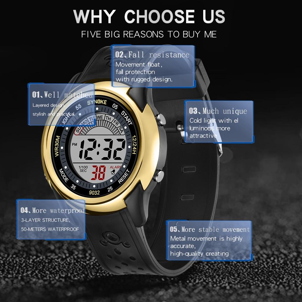 детские цифровые часы synoke