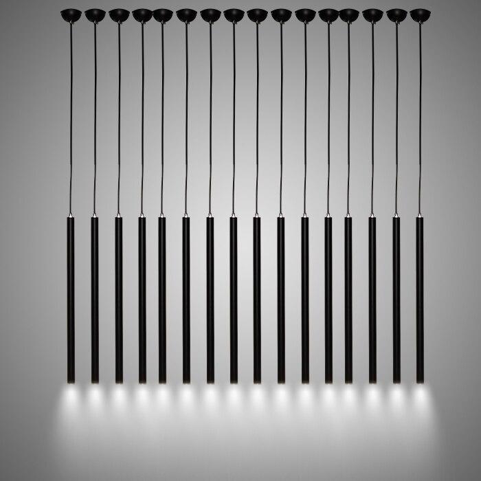 Скандинавское освещение, прикроватная тумбочка для спальни, ресторан, черная люстра, бар, креативное искусство, дизайнерская длинная