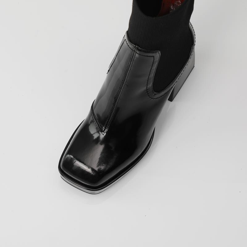quadrado primavera outono tornozelo botas para mulher botas