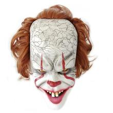 Halloween Cosplay Costume Props Chapter Resin Mask With Hair Pennywise Horror Clown Joker