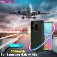 7000mAh Erweiterte Telefon Batterie Power Case Für Samsung Galaxy A8s Batterie Ladegerät Fall Für Samsung A8S Tragbare Power Bank abdeckung