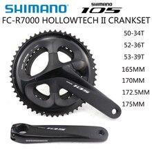SHIMANO 105 FC R7000 HOLLOWTECH II CRANKSET 2X11S 50 34T 52 36T 53 39T 170มม.172.5มม.175มม.จักรยานChainwheelอุปกรณ์เสริมBBR60