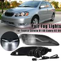 Pair Front LED Fog Lights Lamps For Toyota Corolla 2001 2002 2003 2004 2005 2006 2008 for Camry 2002 2003 2004 American Version