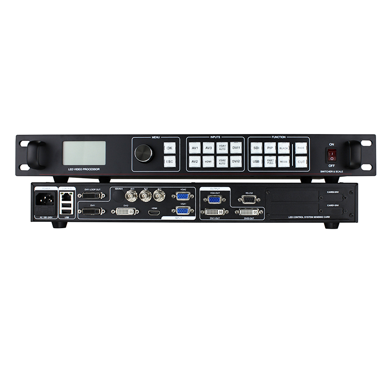 Commutateur vidéo numérique de panneau de mur d'affichage à led commercial lvp815 écran led processeur vidéo identique au contrôleur vdwall lvp605