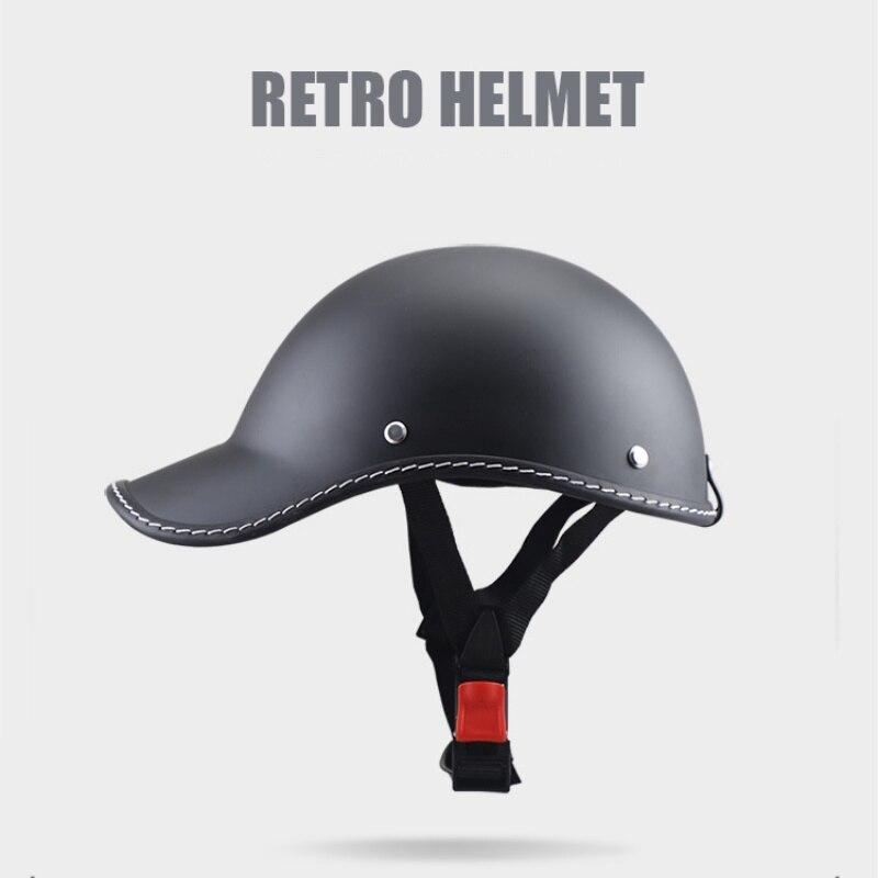 Heißer Motorrad Halb Helm Baseball Kappe Stil Halbe Gesicht Helm Elektrische Fahrrad Roller Anti-Uv Sicherheit Harten Hut
