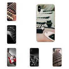 Bass Guitar Strings Music Guitares For Apple iPhone 4 4S 5 5C 5S SE SE2020 6 6S 7 8 11 Plus Pro X XS Max XR TPU Art Print(China)