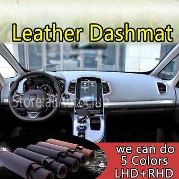 For Renault Espace V 2015 2016 2017 2018 2019 Leather Dashmat Dashboard Cover Dash Carpet Custom Car Styling LHD+RHD