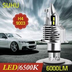 SUHU 1PCS H4 9003 HB2 LED Hi/Lo Beam HID White Car Motorcycle Headlight High Power 6500K 6000LM Auto Head Lamps Fog Lights Bulbs