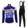 Классический Reynolds Велоспорт Джерси мужская с длинным рукавом набор термальный зимний флис и весна осень тонкий Велоспорт Одежда MTB Джерси