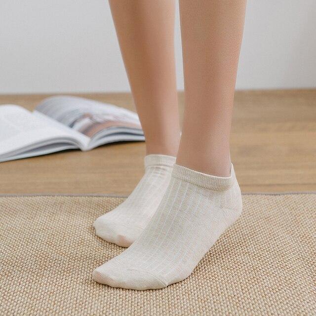Носки женские хлопковые короткие однотонные 3