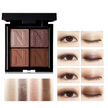 NOVO Makeup Pallete 4 Color Matte Shimmer Pigment Eyeshadow Palette Waterproof P