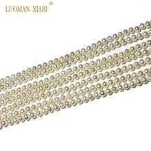 Top 100% naturalne AAAA perły słodkowodne okrągłe, mały rozmiar, okrągły perły koraliki do tworzenia biżuterii DIY bransoletka naszyjnik 2-4mm