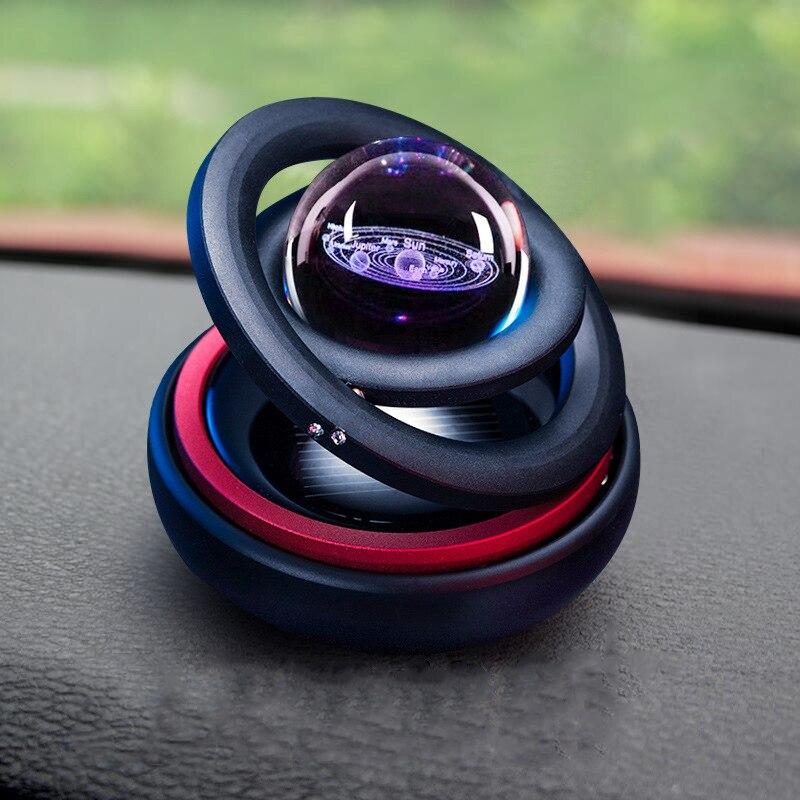 Solar lewitacja magnetyczna odświeżacz do samochodu dekoracja męska dekoracja samochodu układ słoneczny posąg ozdobny akcesoria kreatywne prezenty