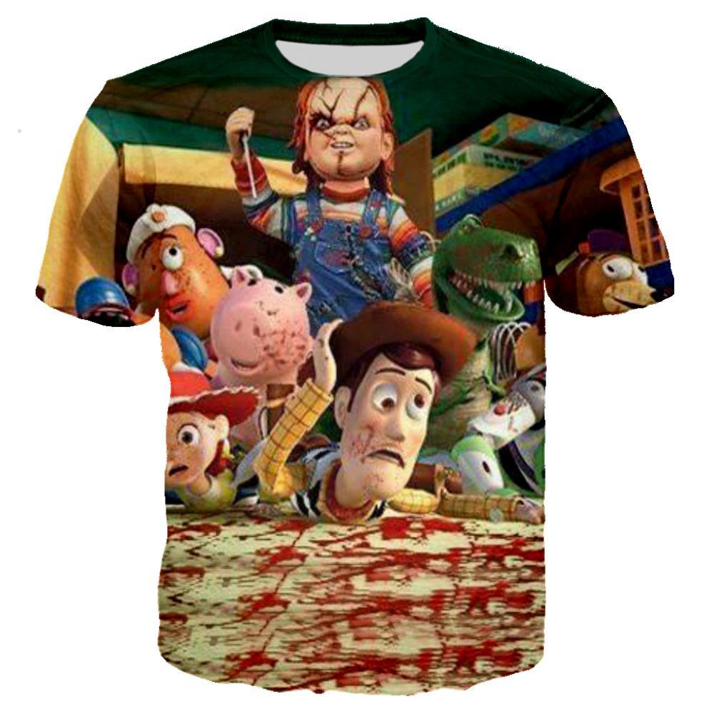 Funny Chucky In Toy Story 4 T Shirt 3D Print Horror Tshirt Men Women Casual Streetwear Hip Hop Ropa Hombre Clothes Harajuku Tops