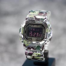 سوار ساعة مموه بحزام ساعة طراز DW5600 5610 Series DW/GW5000 مزود بمشبك معدني وأدوات