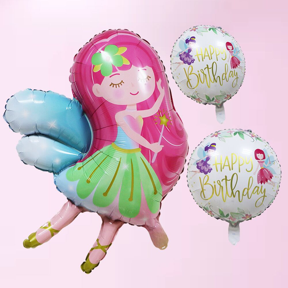 Cartoon Hat Flying Fairy Fairy Unicorn Aluminum Film Balloon Children Toys Home Decoration