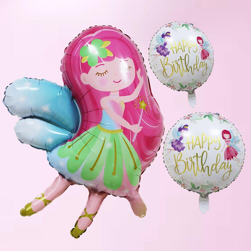 Cartoon Hat Flying Fairy Fairy Unicorn Aluminum Film Balloon Children Toys Home Decoration