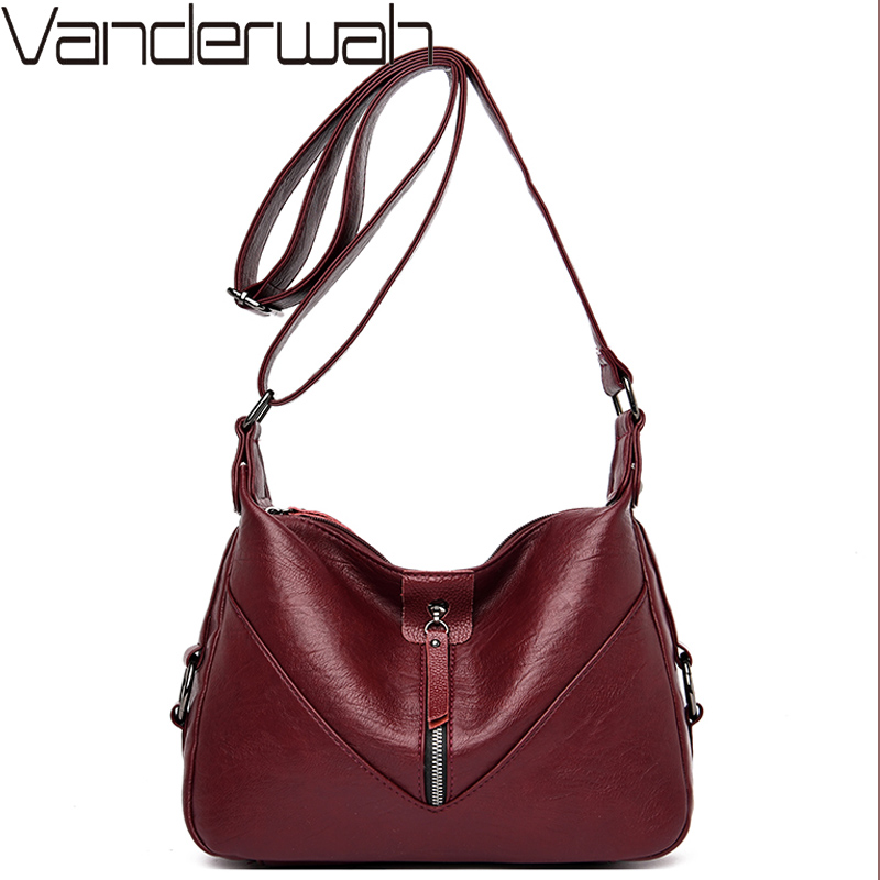 Crossbody Bags For Women Luxury Messenger Bags Desinger Handbags Leather Sac A Main Femme De Marque Luxe Cuir 2019 High Quality